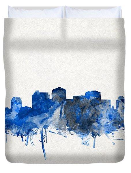Nashville Skyline Watercolor 11 Duvet Cover