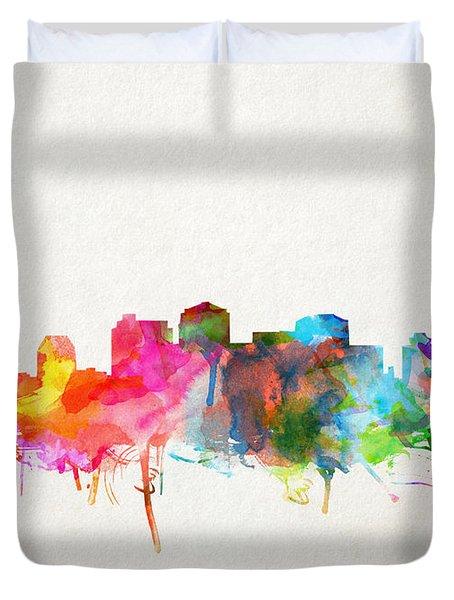 Nashville Skyline Watercolor 9 Duvet Cover