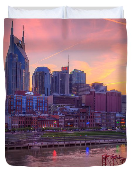 Nashville Sunset Duvet Cover