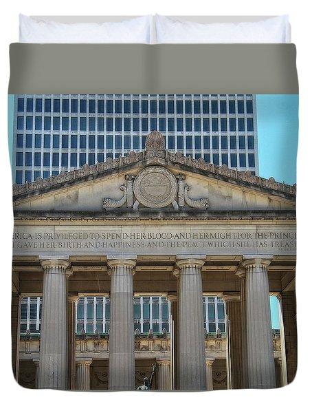Nashville War Memorial Auditorium Duvet Cover by Dan Sproul