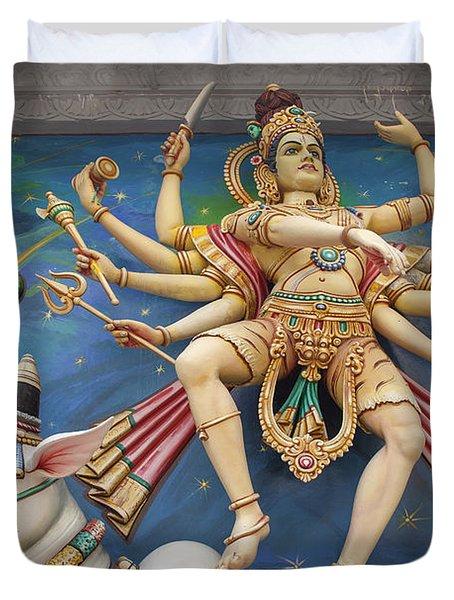 Nataraj Dancing Shiva Statue Duvet Cover