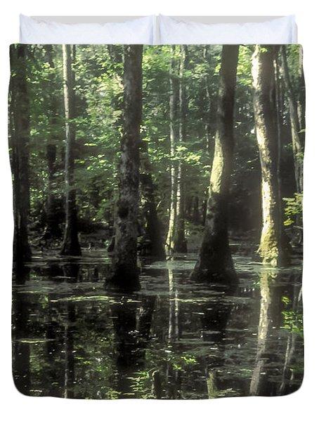 Natchez Trace Cypress Duvet Cover by Bob Phillips