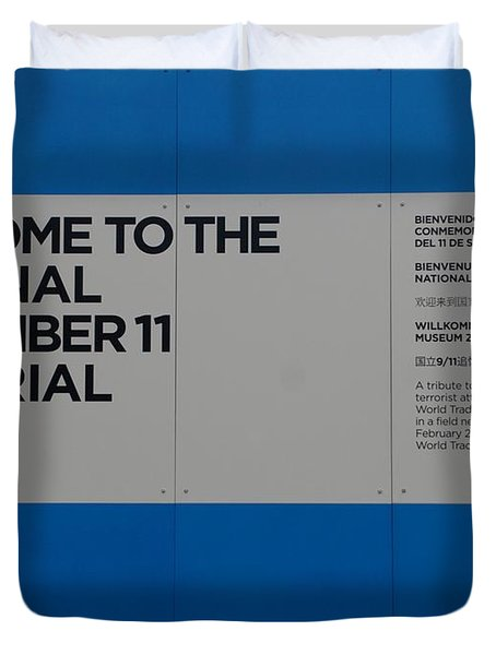 National 9/11 Memorial  Duvet Cover by Rob Hans