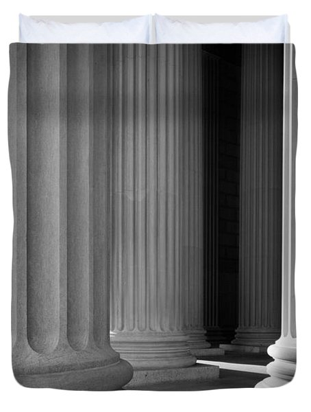 National Archives Columns Duvet Cover by Inge Johnsson