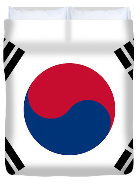 National Flag Of South Korea Authentic  Duvet Cover