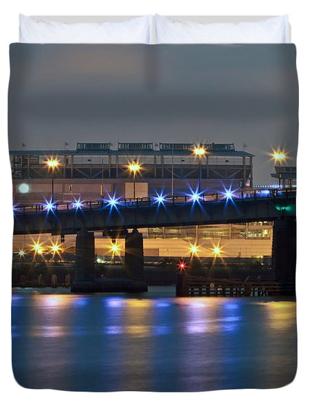 Duvet Cover featuring the photograph Nationals Park by Jerry Gammon