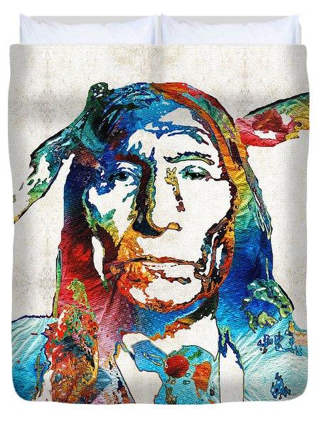 Native American Art By Sharon Cummings Duvet Cover