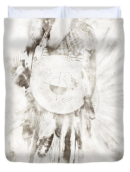 Duvet Cover featuring the digital art Native American by Erika Weber
