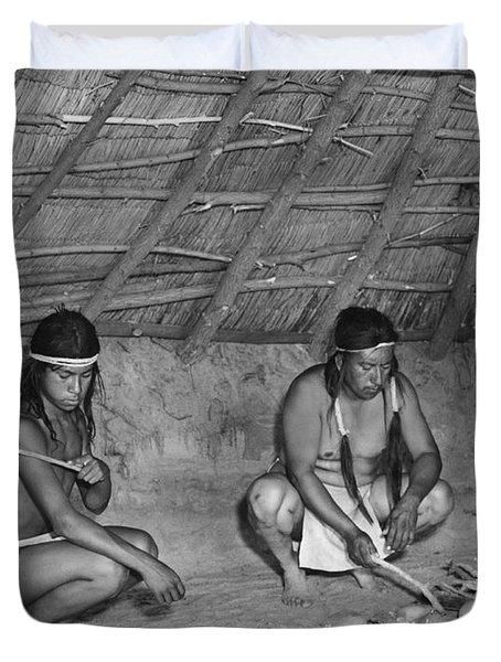 Native American Sweat Lodge Duvet Cover