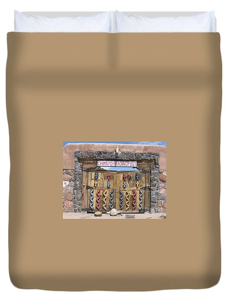 Duvet Cover featuring the photograph Native American Trading Post by Dora Sofia Caputo Photographic Art and Design