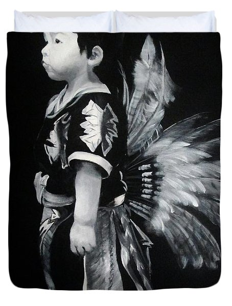 Native Boy Duvet Cover
