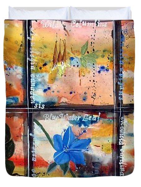native Texas wildflowers B Duvet Cover
