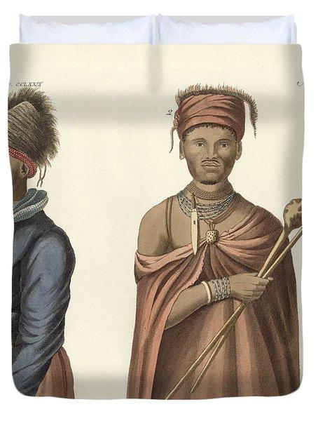 Natives Of South Africa Duvet Cover