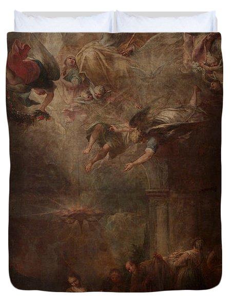 Nativity Of Mary Duvet Cover