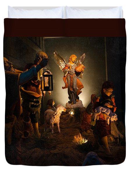 Nativity  Duvet Cover by Susan  McMenamin