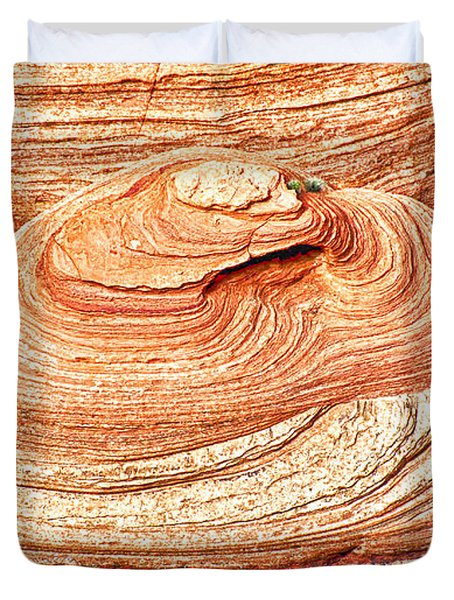 Natural Abstract Canyon De Chelly Duvet Cover by Bob and Nadine Johnston
