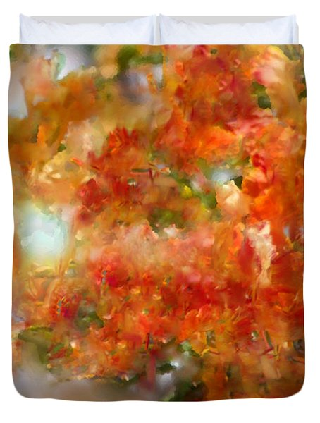 Natural Abstractions #12 The Orange Tree Duvet Cover