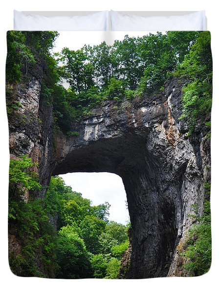Natural Bridge In Rockbridge County Virginia Duvet Cover by Bill Cannon