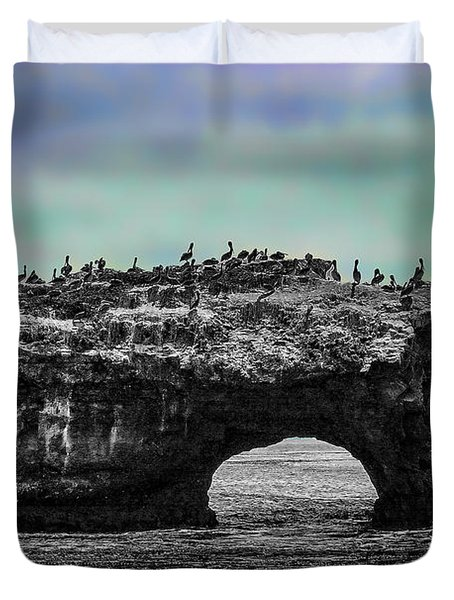 Natural Bridges State Beach Duvet Cover