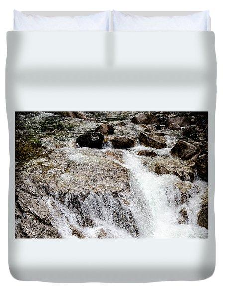 Backroad Waterfall Duvet Cover