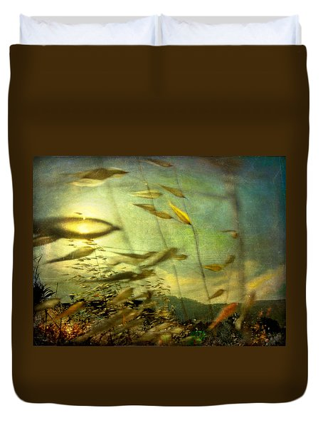 Duvet Cover featuring the photograph Nature #12. Strong Wind by Alfredo Gonzalez