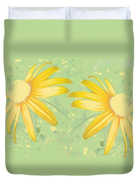 nature - flowers -Summer Time Pair Duvet Cover