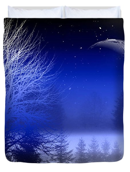 Nature In Blue  Duvet Cover by Mark Ashkenazi
