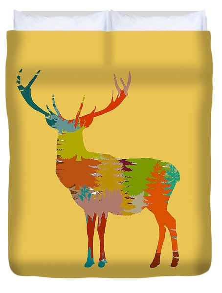 Duvet Cover featuring the photograph Nature Stag Without Frame by Suzanne Powers