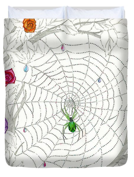 Duvet Cover featuring the drawing Nature's Art by Dianne Levy