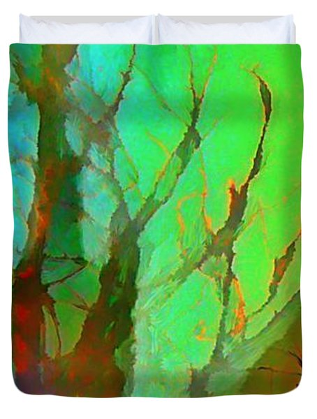 Natures Beauty Abstract Duvet Cover by John Malone