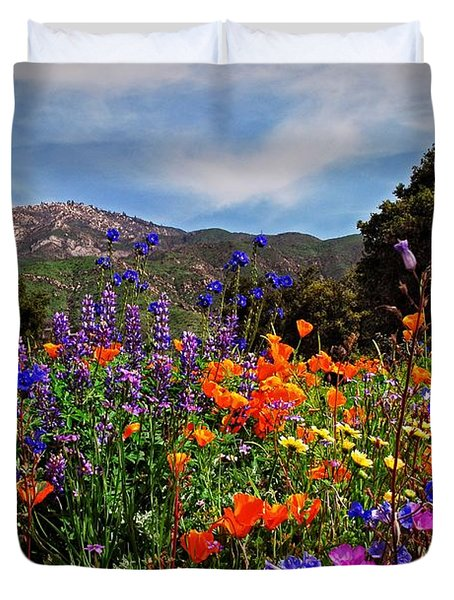 Duvet Cover featuring the photograph Nature's Bouquet  by Lynn Bauer