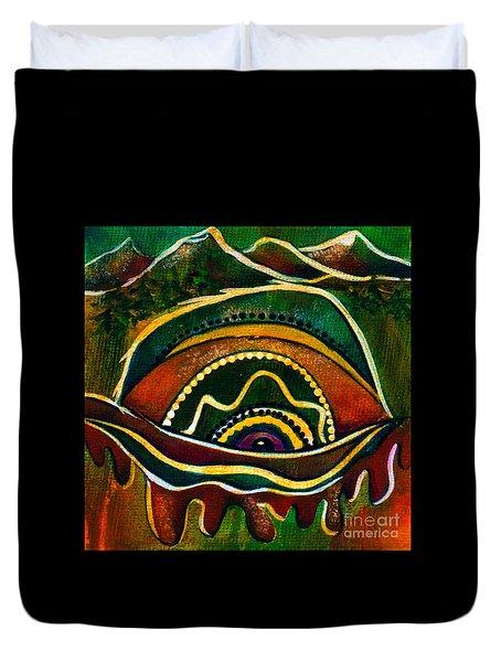 Nature's Child Spirit Eye Duvet Cover by Deborha Kerr
