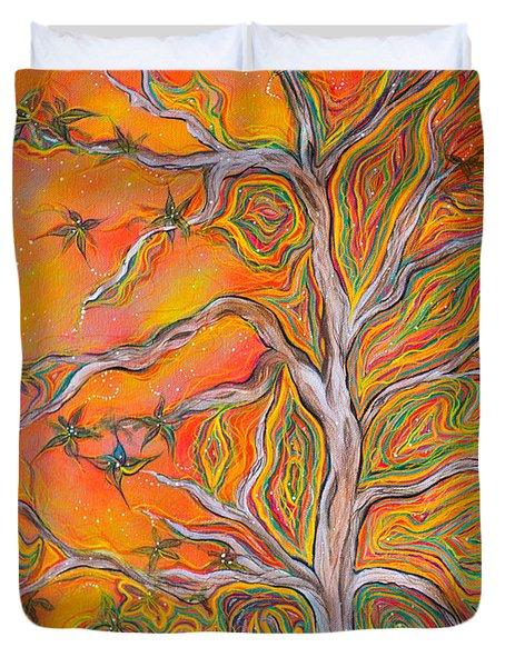 Nature's Energy Duvet Cover by Deborha Kerr