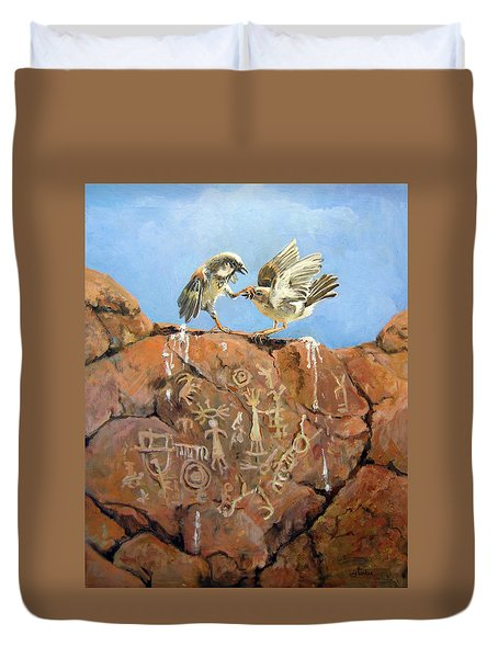 Nature's Fury Duvet Cover by Donna Tucker