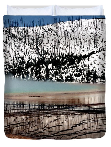 Duvet Cover featuring the photograph Nature's Mosaic I by Sharon Elliott