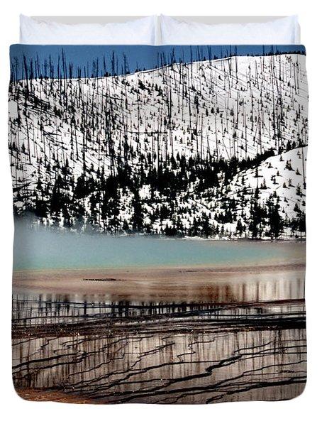 Nature's Mosaic I Duvet Cover by Sharon Elliott