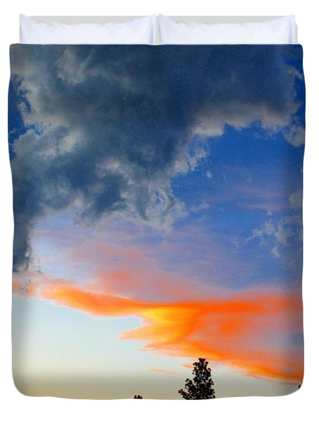 Nature's Palette Duvet Cover by Barbara Chichester