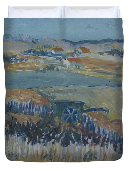 Natures Tapestry At Verse Van Gogh Copy Duvet Cover by Avonelle Kelsey