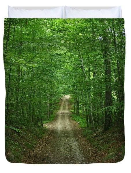 Nature's Way At James L. Goodwin State Forest  Duvet Cover by Neal Eslinger