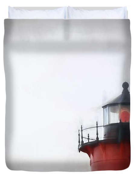 Nauset Lantern And Catwalk Duvet Cover