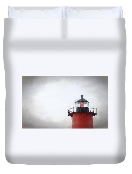 Nauset Lantern And Catwalk Duvet Cover