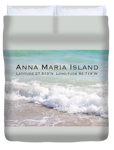Nautical Escape To Anna Maria Island Duvet Cover by Margie Amberge