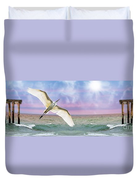 Duvet Cover featuring the photograph Nautical Fantasy by Kathy Baccari