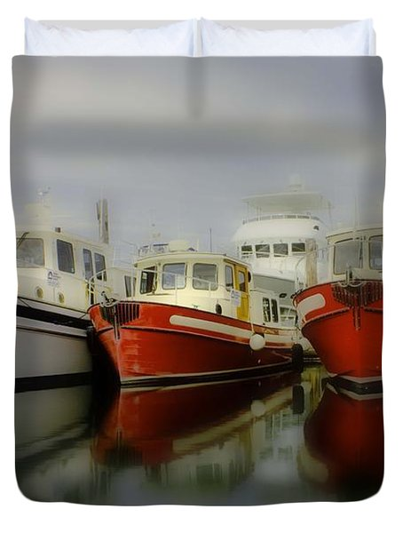 Duvet Cover featuring the photograph Nautical by Sonya Lang