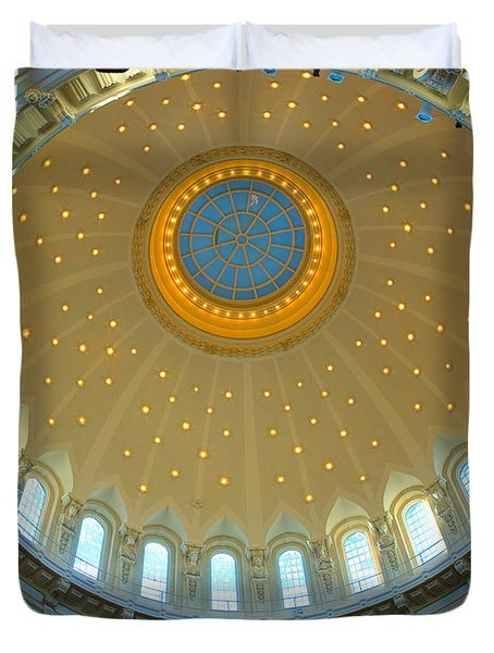 Naval Academy Chapel Side Dome Duvet Cover by Mark Dodd