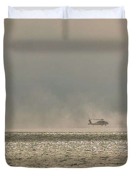 Navy Life Saving Practice Duvet Cover by Angela A Stanton