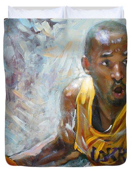 Nba Lakers Kobe Black Mamba Duvet Cover by Ylli Haruni