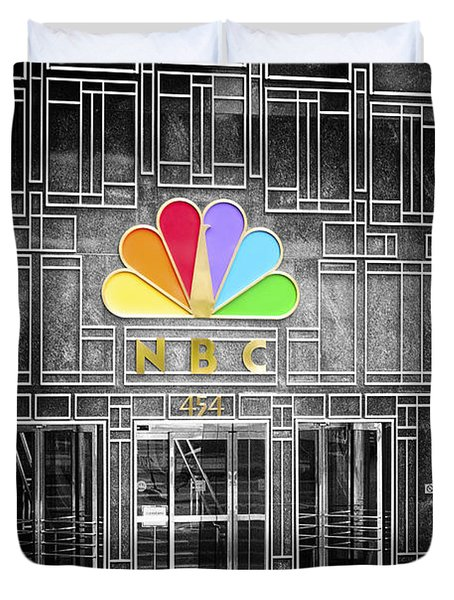 Nbc Facade Selective Coloring Duvet Cover by Thomas Woolworth