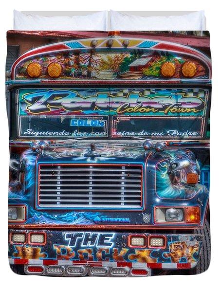 Neat Panamanian Graffiti Bus  Duvet Cover