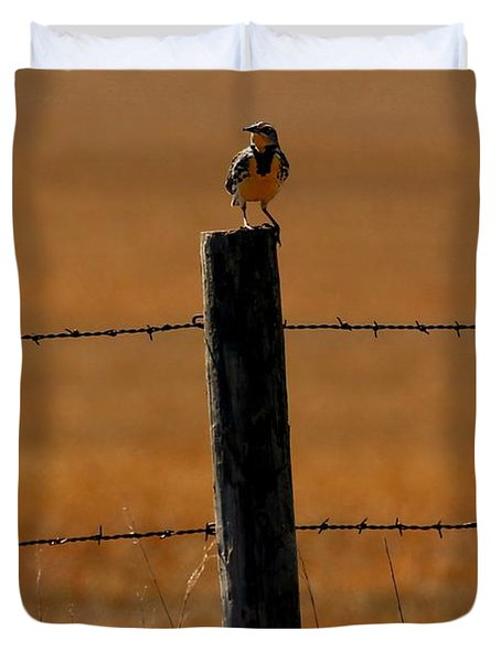 Nebraska's Bird Duvet Cover by Elizabeth Winter